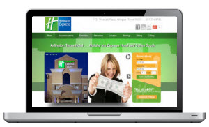 Screen Capture of a Hotel website in Arlington Texas