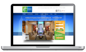 Screen Capture of a Hotel website in Dallas texas #2