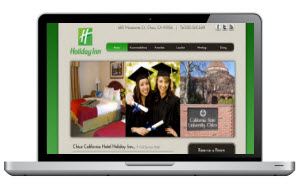 Screen Capture of a Hotel website in Chico California