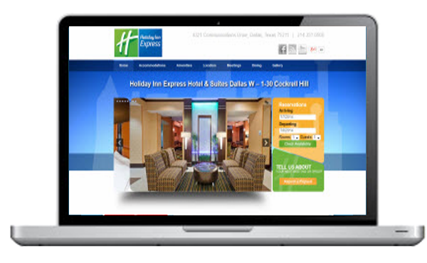 Screen Capture of a Hotel website in Dallas Texas